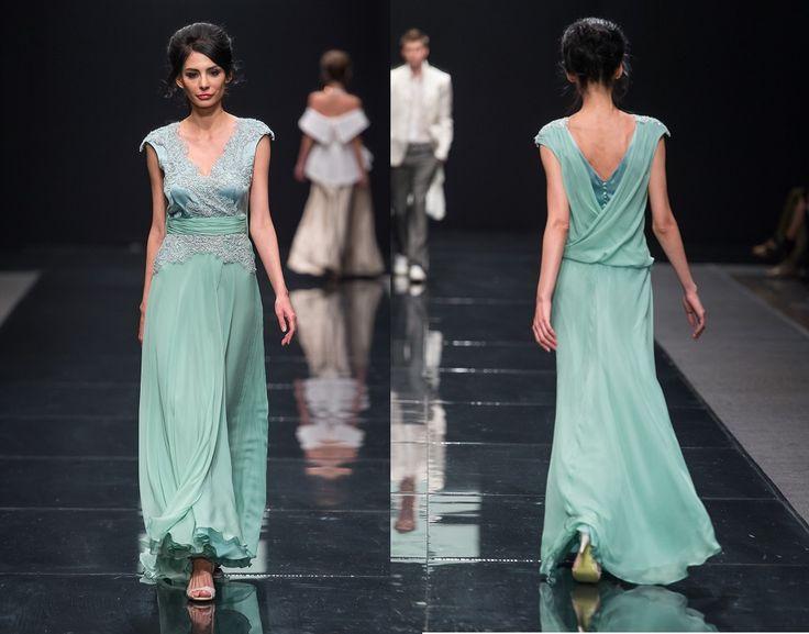 Вечернее платье из шифона и кружева