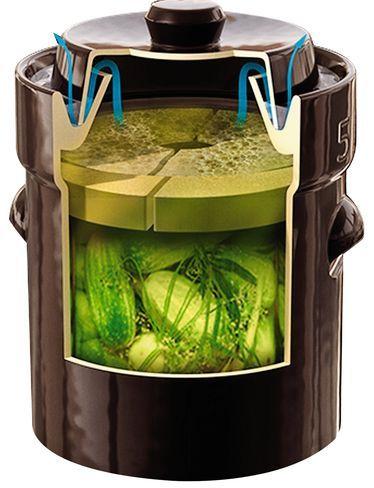 Complete Fermentation Crock, 1.3 Gallon