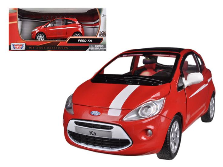 Brand New Scalecast Model Car Of Ford Ka Red White Cast Car Model By Motormax