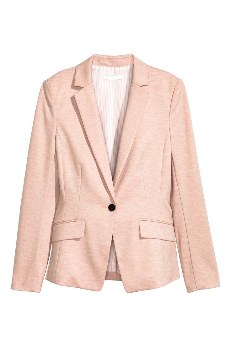 Blazer en jersey - Rose poudré - FEMME | H&M 29.99