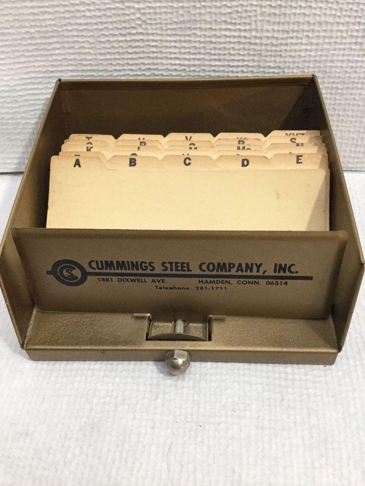 Vintage CUMMINGS STEEL COMPANY, INC. HAMDEN CONN PHONE / ADDRESS INDEX TARCO MFG #TARCOMFGCO