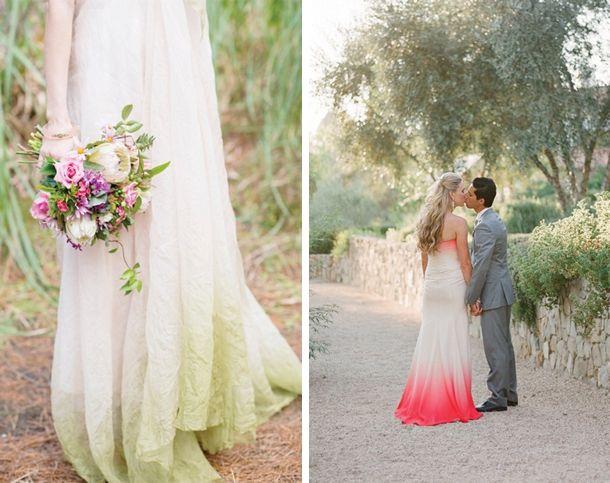Dip Dye Ombre Wedding Dresses Esküvő Pinterest és Dress