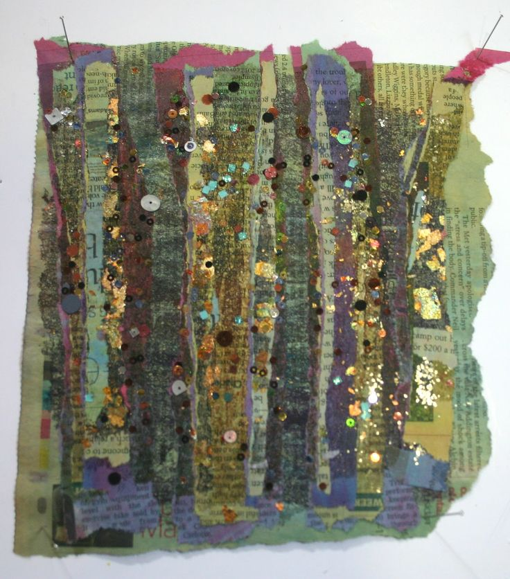 stitched paper at Kim's Hot Textiles