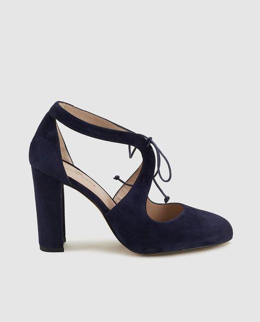 Zapatos de salón de mujer Gloria Ortiz de piel azules