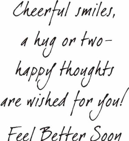 Amazon.com: Cheerful Smiles Get Well Greeting Rubber Stamp By DRS Designs: Arts, Crafts & Sewing