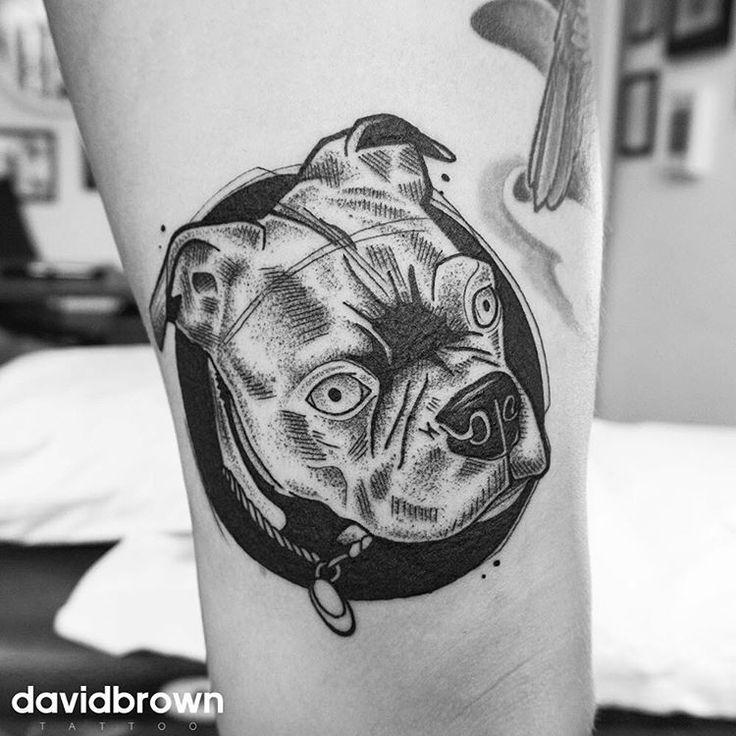Le dog. Merci Anouk!  davidbrowntattoo.com #tattoo #tattoos #blackwork…David Brown
