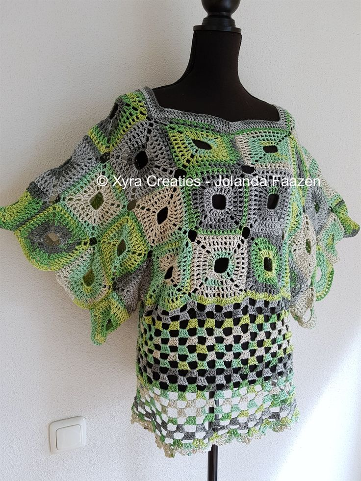 #PATR1084 #shirt #jurk #tuniek #dress #tunic #wijde #wijd #wide #haakpatroon…