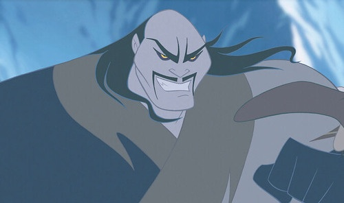 "Shan Yu is one of the few villains to not have their own song. He should have a song. ""China will be crushed by the power of my fist! And that warrior who shot  the cannon will, by my sword, not be missed!"": Disney Movies, Favorite Villains, Movie Villains, 1998, Favorite Disney, 2004, Disney Villains, Shanyu Mulan, Shan Yu"