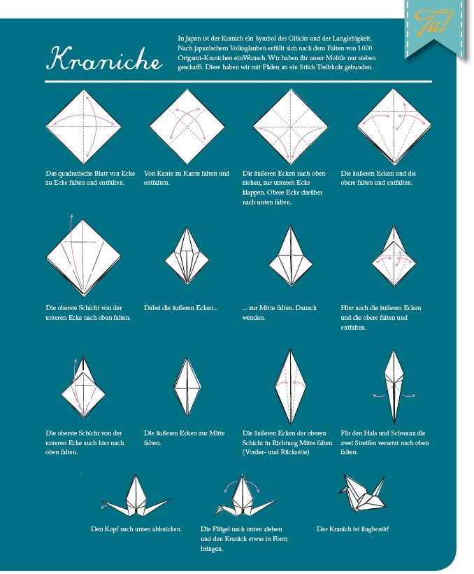 Anleitung Origami Kraniche via Dawanda / Eigenwerk