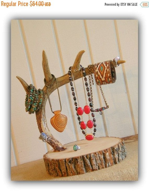 Antler Jewelry Display Stand / Rustic by HuntandGatherStyle