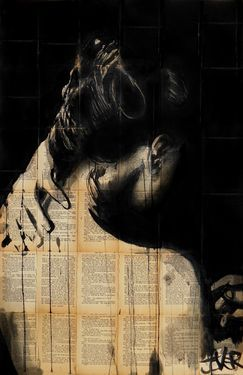 "Saatchi Art Artist Loui Jover; Drawing, ""nightfall   Apart/ People/ Collage/ Ink/ Text/ Photography"