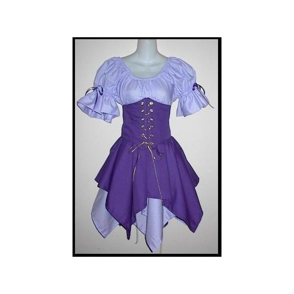 Wood Elf Cincher Set - renaissance clothing, medieval, costume ❤ liked on Polyvore featuring costumes, dresses, medieval, santas helper costume, elf halloween costume, renaissance costumes, elf costume and blue halloween costume