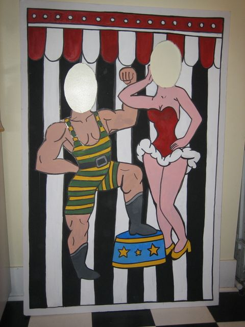circus/carnival theme --- photo cutout. Even the grandparents would like this one!