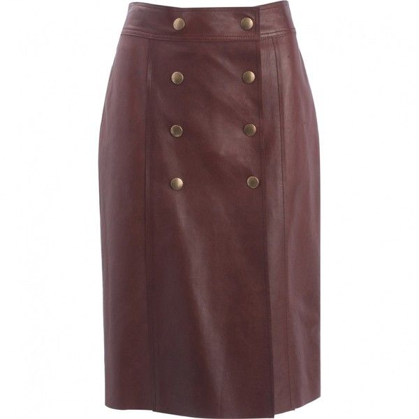 Pre-owned Louis Vuitton Leather Mini-Skirt ($658) ❤ liked on Polyvore featuring skirts, mini skirts, brown, women clothing skirts, short mini skirts, brown leather mini skirt, brown mini skirt, high-waisted skirt and leather skirt