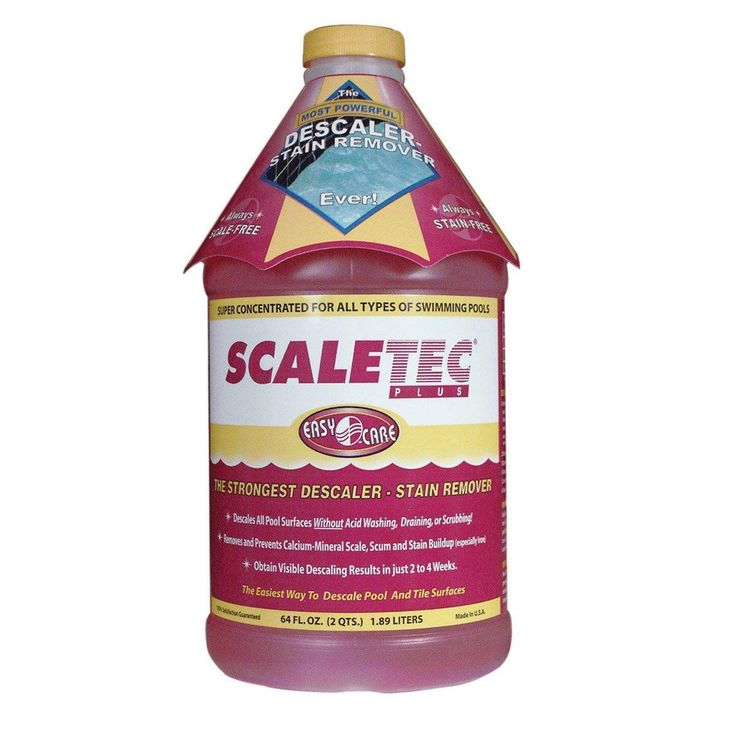 EasyCare 20064 Scaletec Plus Descaler and Stain Remover, 64 oz. Bottle, Brown, Outdoor Décor