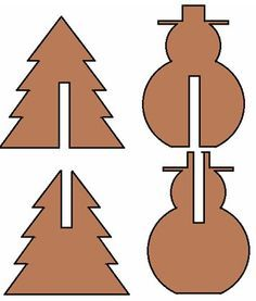 Schablone Tannenbaum Holz