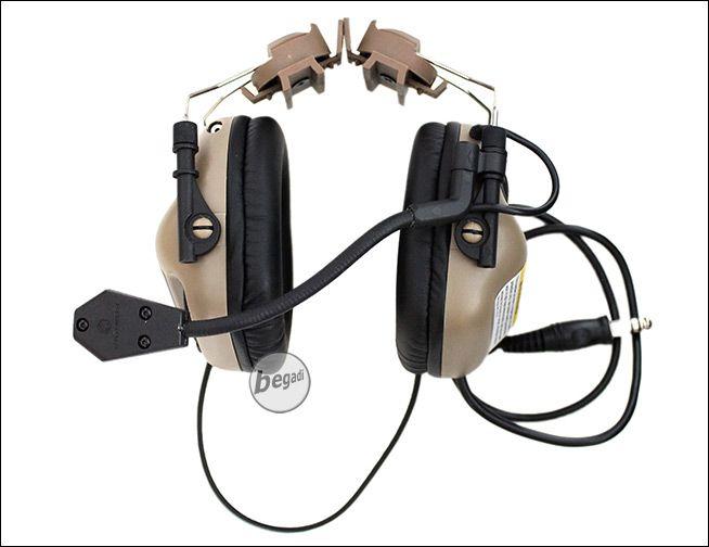 "OPSMEN ® EARMOR M32 Funk-HeadSet mit Gehörschutz ""Helm Version"" - TAN"