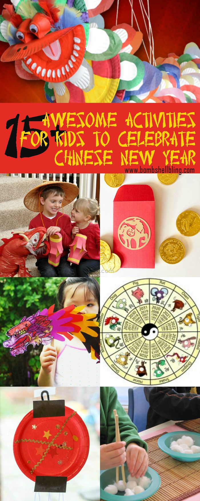 15  Chinese New Year Activities for Kids - I love these ideas!  Food, kid crafts, traditions, and games!
