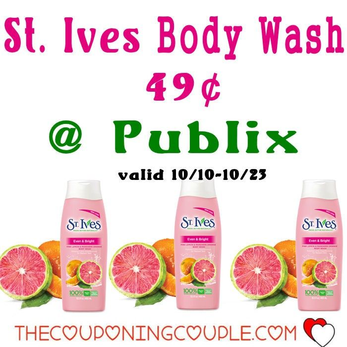 Cheap St. Ives Body Wash $0.49 @ Publix 10/10-10/23 Possibly lower with rebates! This is a great time add body wash to your stockpile shelf!*  Click the link below to get all of the details ► http://www.thecouponingcouple.com/cheap-st-ives-body-wash/ #Coupons #Couponing #CouponCommunity  Visit us at http://www.thecouponingcouple.com for more great posts!