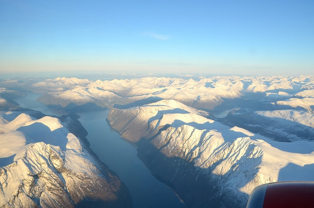 Photo by me. We were flying home from Oslo after coming back from Thailand earlier this winter. The weather was amazing!  - M