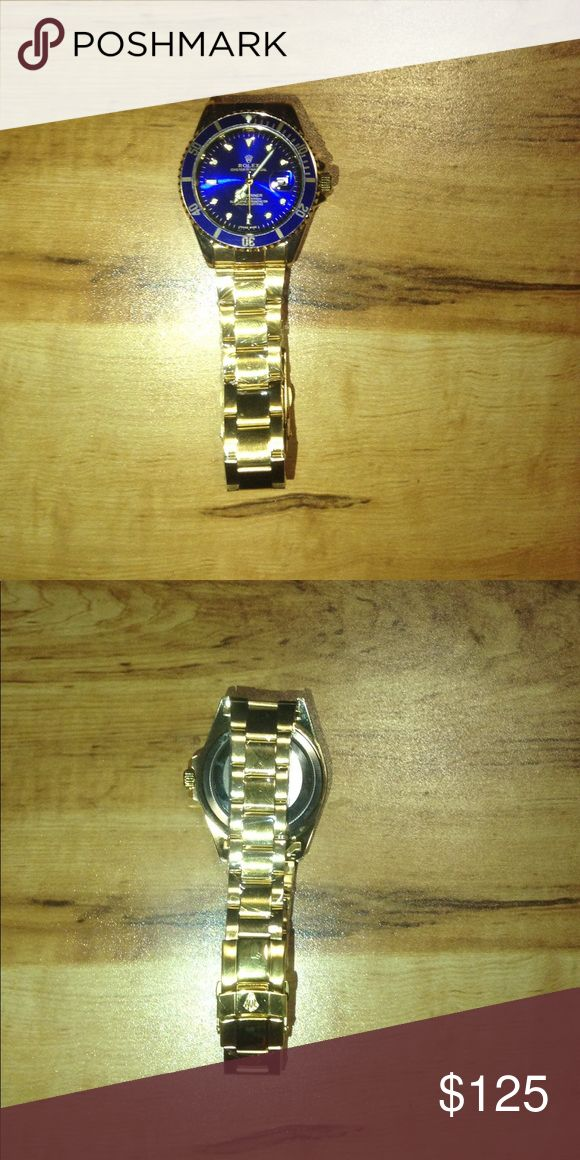 Rolex submariner Gold with blue face. Price reflects. Send an offer Rolex Accessories Watches