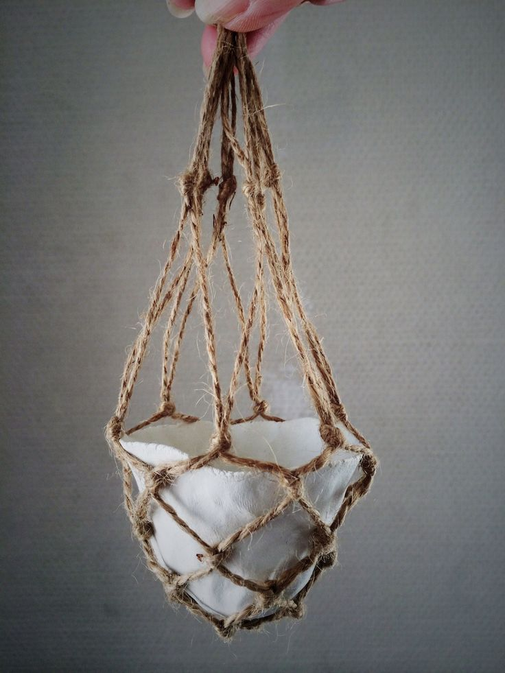Clay pot macrame by Ida Dyhr, Copenhagen 2015