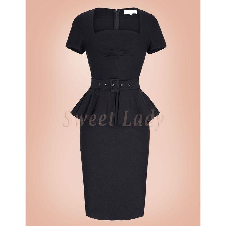 Elegantné úzke retro šaty