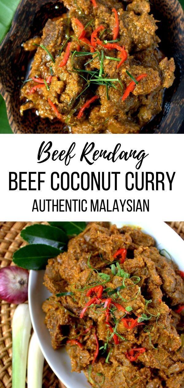 Deutsch Wurziges Rindfleisch Rendang Ein Rezept Aus Malaysia Recipe Beef Rendang Recipe Asian Beef Stew Beef Curry Recipe