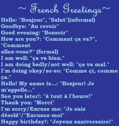 I want to learn to speak French, or make my children learn so they can be my translators when we travel.