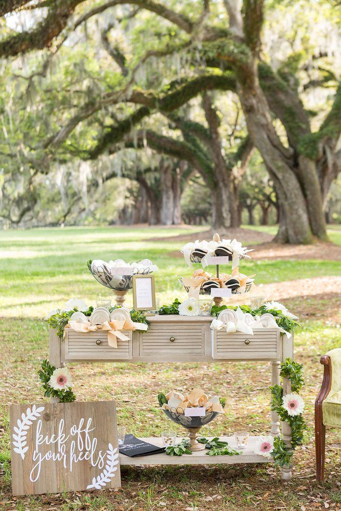 How To Create A Wedding Shoe Bar