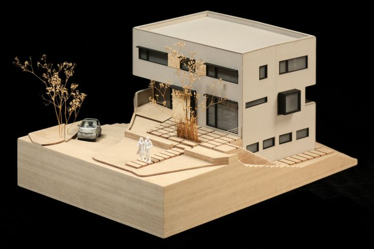a scale model home