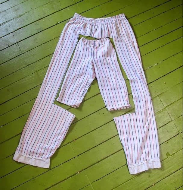 Transformer un pyjama en pyjama enfant.