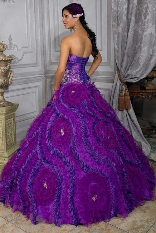 228 best blue purple wedding dresses images on pinterest ball unbelievable purple wedding gown junglespirit Gallery