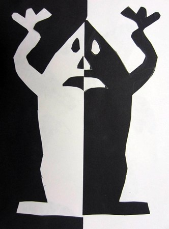Positive/negative space ghosts
