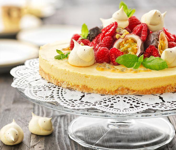 Moussetårta med kokos och mango | Recept ICA.se