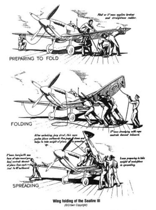 Supermarine Seafire: seafire MkIII wing fold