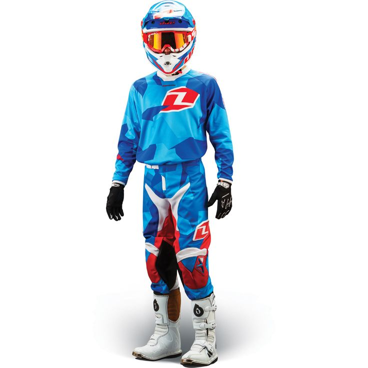 2014 One Industries Atom Youth Motocross Kit Combo - Camoto Blue - 2014 One Industries Motocross Kit - 2014 Motocross Gear