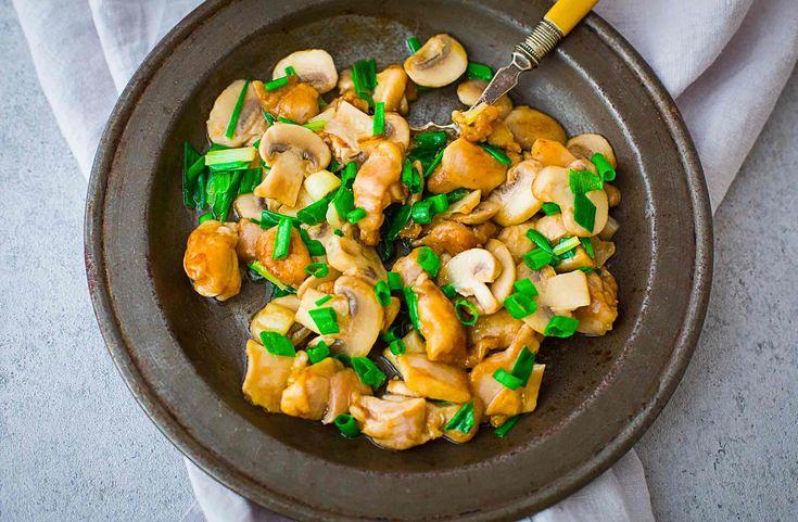 Chicken mushroom stir fry