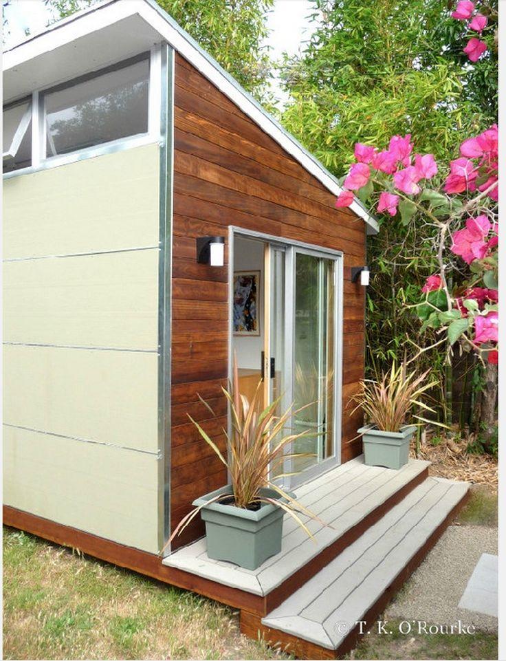 33 besten moderne flachdach gartenh user bilder auf. Black Bedroom Furniture Sets. Home Design Ideas