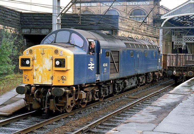 40141 (ex D341) at Preston on 21st Sept 1983. (Steven Brindley)