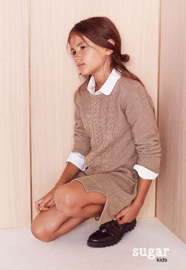 """Alessandra from Sugar Kids for Massimo Dutti """"Back to School"""" collection."""