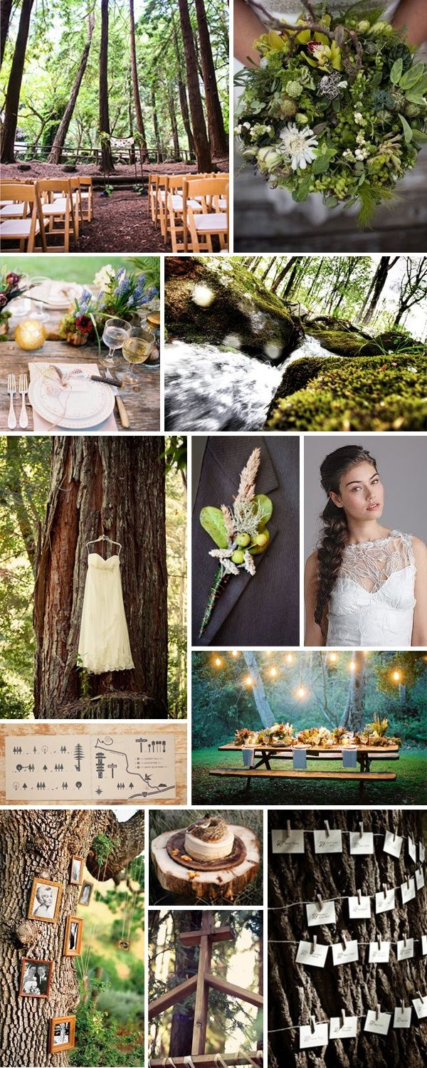 woodland wedding theme, gorgeous and what not, but a lot more fairy lights would probably do! Along with a better backdrop!