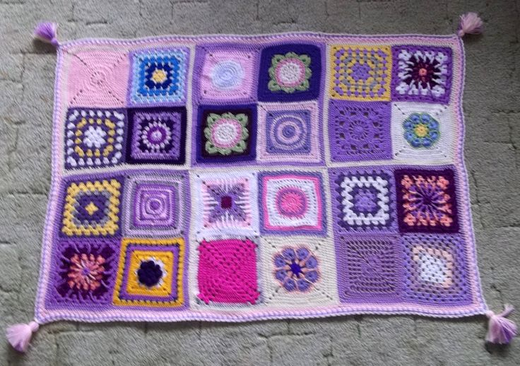 Crochet squer crazy - for baby