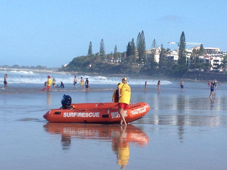 Lifesavers at Alexandra Headlands on the Sunshine Coast