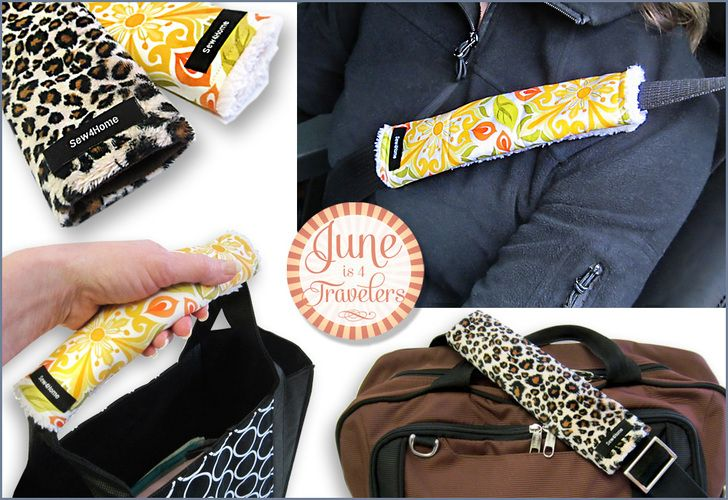 June is 4 Travelers: Seat Belt & Bag Handle Cover | Sew4Home
