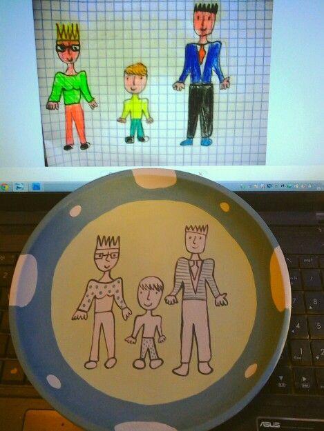 Per piatti personalizzati tanacreativa@gmail.com Piatto realizzato su commissione, hand painted, ceramic gift, gift ideas, piatto personalizzato, disegno bambino su piatto in ceramica