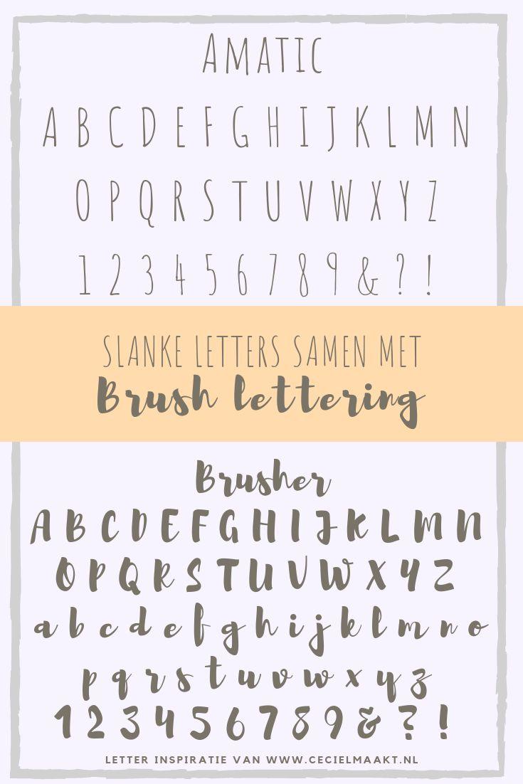 Schriftkombinationen