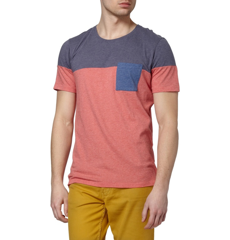 Folk Panelled Cotton T-shirt |