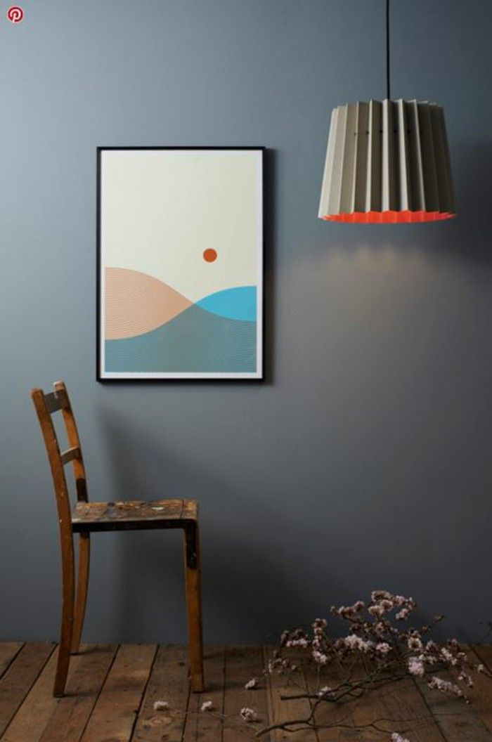 Designer light catcher in the room composition poster Chair