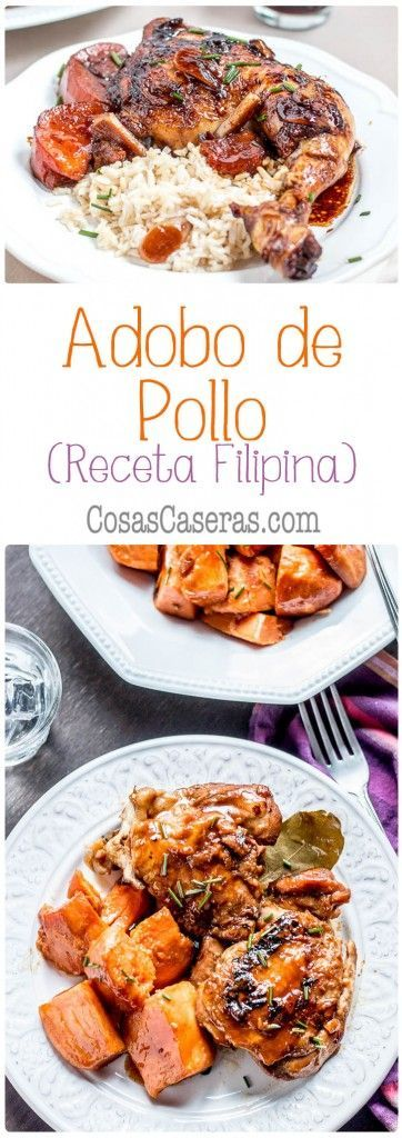 Combinando los sabores de agrio, dulce, y salado a la perfección, el adobo de pollo es una receta filipina con una salsa fácil de hacer, pero intenso en sabor. Es una de mis recetas preferidas.